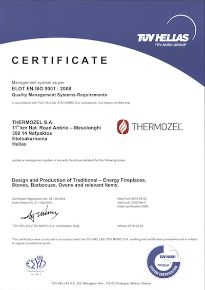 thermozel iso certification